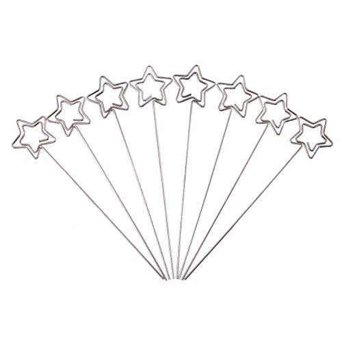 Zerone 50 x Silber DIY Handwerk Metall Runde Drähte Foto Karte Bild Memo Papier Hinweis Anzeige Clip Halter(Love)