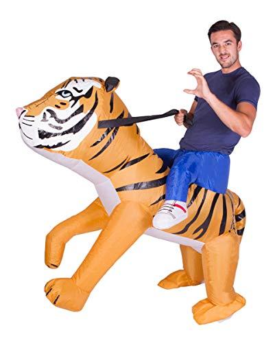 Horror-Shop Ride on Tiger Kostüm zum Aufblasen