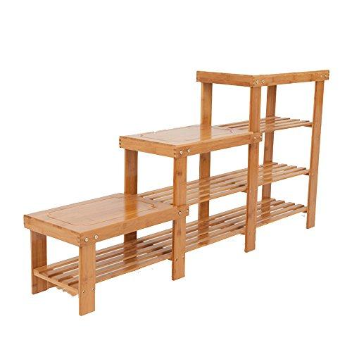 Schuhregal NAN 2/3/4/5 laminierter Holzschuh-Gestell-Speicher-Tabellen-faltender faltender hoher Kabinett (größe : 128 * 27 * 66cm) -