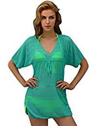 DEHANG - Paréo / Robe de plage Motif Floral Sexy Vintage pour Femme Bikini Cover Up - Couleurs et Tailles au choix