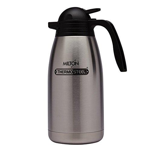 Milton Thermosteel Carafe 2000ml Vaccum Flask - Steel Plain