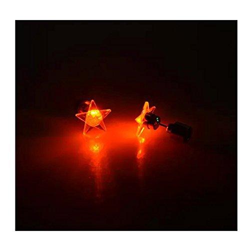 (LI&HI LED Leuchtpentagramm Ohrringe des Trends der Paare Halloween Weihnachten Geschenkartikel)
