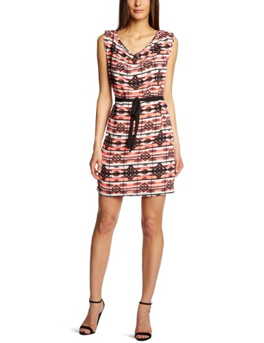 Vila Damen Kleid ETNICIA DRESS Pink - Rose Foncé (Teaberry)