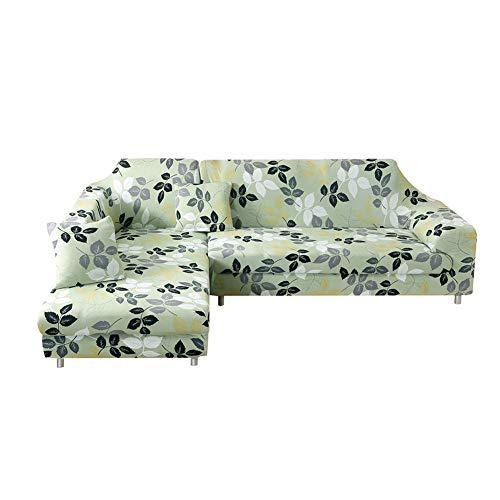 Fansu Elastischer Sofabezug, Stretch Couchbezug Sesselbezug Elastischer Antirutsch Stretchhusse Weich Stoff Sofabezug Möbelschutz (2 Sitze: 145-185 cm,Grün)