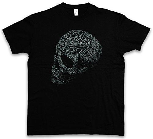 Rose Tattoo T-shirt (Ornament Skull I T-Shirt – Schädel Dead Totenschädel Totenkopf Tattoo Art Rockabilly Skeleton Roses Artist Flash Death Reaper Bones Oldschool Größen S – 5XL)