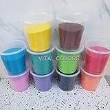 Vital Colors Set Of 10 Premium Quality Different Color Rangoli Colors Powder 1kg In Each Packet-Total 10 Kgs