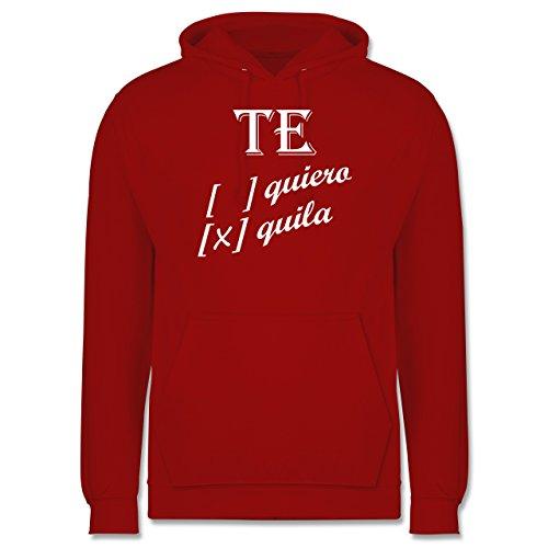 Statement Shirts - Te quiero, Tequila - Männer Premium Kapuzenpullover / Hoodie Rot