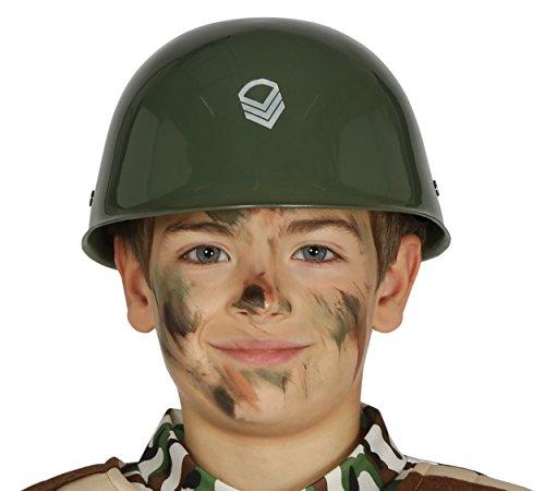 Guirca Soldatenhelm für Kinder Militär Soldat Kämpfer Zubehör Fasching Kostüm (Militär Party Kostüm)