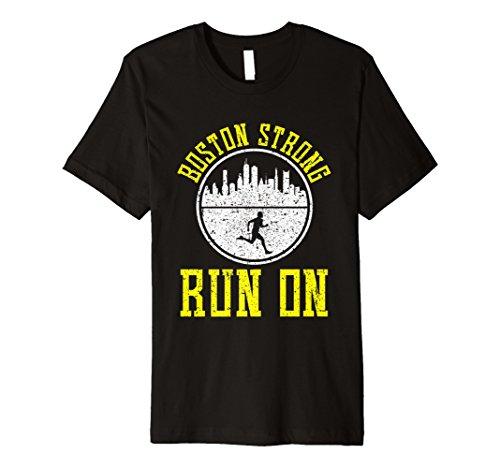 (Stolz Boston stark Run On T-Shirt Marathon Läufer Running)