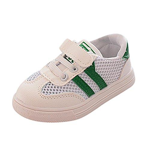 FNKDOR Kinder Baby Wanderschuhe Jungen Mädchen Weiches Soled Sneaker Schuhe Turnschuhe(20,Grün)