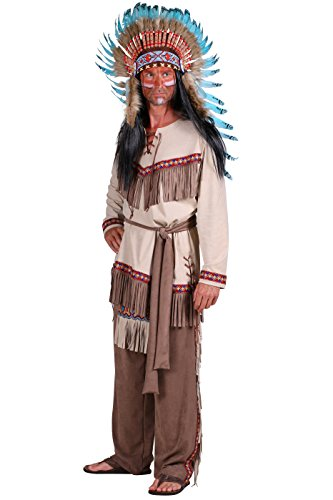 Indianer-Kostüm in braun/beige   Indianer-Anzug für Herren (XL)