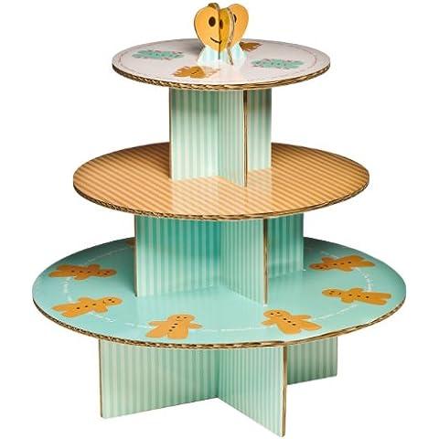 Premier Housewares 0805072 -  Soporte para tartas, 3 pisos, diseño de galleta de jengibre con forma de hombre