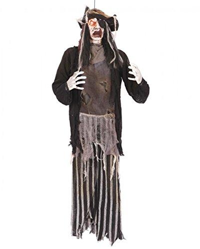 Zombi pirata figura colgando con LED 144 cm