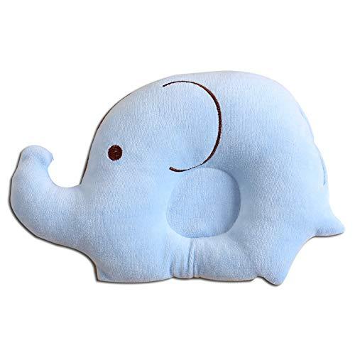 Babykissen Cartoon Elefant Waschbare Babykopfkissen Gegen Kopfverformung Kinderkissen Atmungsaktiv Baby Pillow Memory Schaum Kissen Gegen Plattkopf Kinderkissen Gegen Plagiozephalie Unisex -