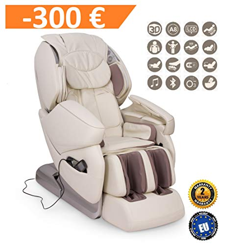 NIRVANA Sillón de masaje 3D - Beige