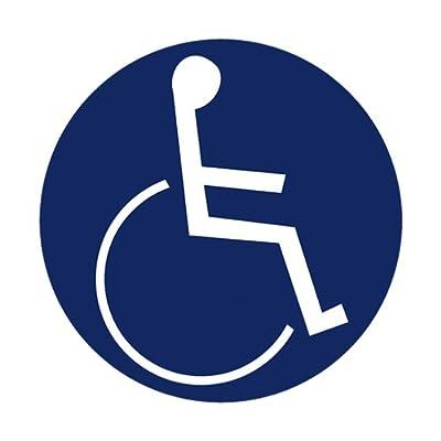 """Gebotszeichen """" Rollstuhlfahrer """" Kunststoff 200 mm"""