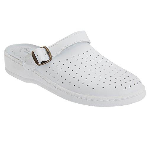 San Malo - Pantofole da Casa in Pelle - Unisex Bianco