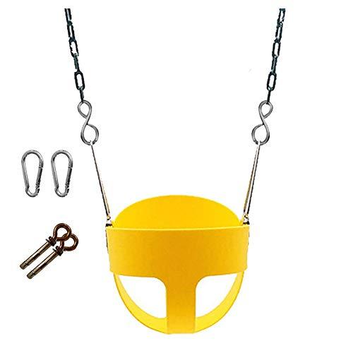 Joyfitness Swing Chair Indoor und Outdoor voll von hängenden Stuhl Home Baby Seat Gewicht 200kg umgeben,Yellow,Indoor -