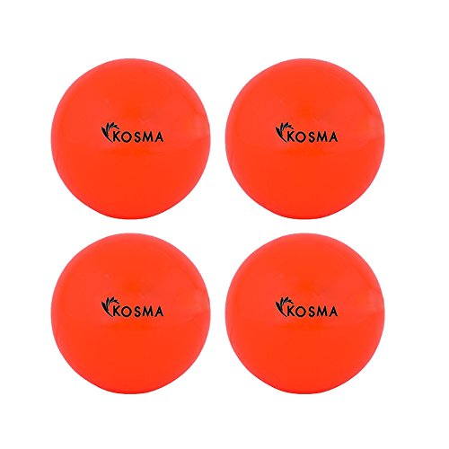 Kosma Set di 4palle lisce hockey Outdoor Sports PVC pratica palla da allenamento
