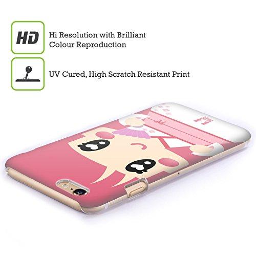 Head Case Designs Popcorn Kawaii Serie 1 Ruckseite Hülle für Apple iPhone 4 / 4S Pink Japanischer Kimono Mädchen
