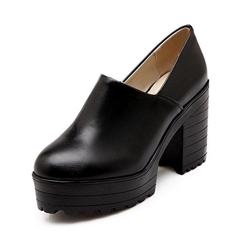 BalaMasa da ragazza, rotondi, in pelle, punta arrotondata, pompe Imitated-Shoes Black