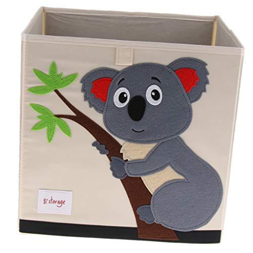 Baoblaze Faltbare Aufbewahrungsbox Korb Kinder Kleidung Spielzeug Buch Veranstalter - Koala (Kinder Kleidung Veranstalter)