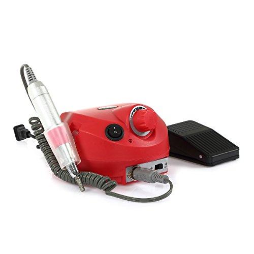 CoastaCloud Set de Ponceuse Manucure électrique Kit Appareil Pro Soins Du Salon Pédicure Manucure 0 à 30 000 tours/min avec accessoires - 1 x Pédale