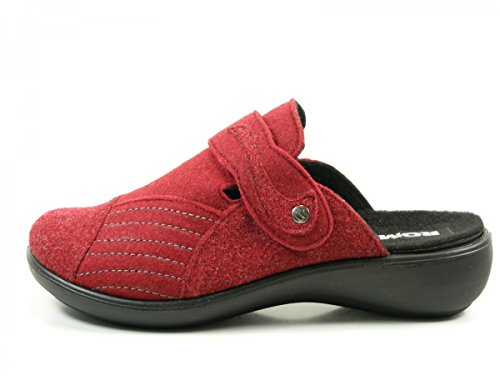 ROMIKA Ibiza Home 306, Chaussons Mules femme Rot (Rot (400))