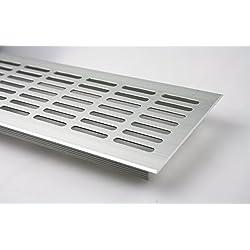 Rejilla de ventilación de aluminio anodizado Filtro de ventilación 100 x 1000 mm