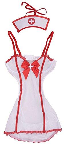 Simplicity Sexy Sheer Mini Naughty Nurse Nightie Lingerie