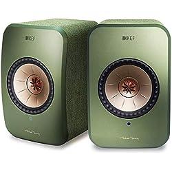 KEF LSX - Enceinte WLAN - Vert Olive   Enceintes actives avec Bluetooth   Enceinte multiroom   Enceinte Wifi, Airplay 2, Spotify   Meilleures enceintes sans fil