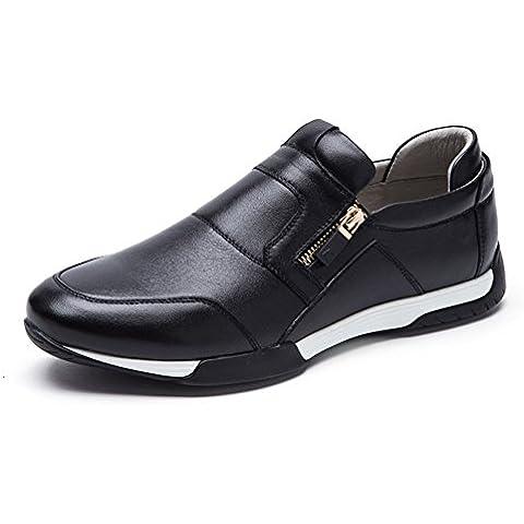 2016hombres ocasionales/Zapatos de cuero reales del pie/Encaje zapatos casuales para ayudar a baja