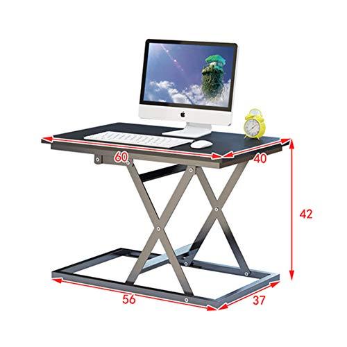 FENGT Ergonomischer Laptop-Schreibtisch Schreibtisch FrüHstüCksablage BüCherregal - Schwarz