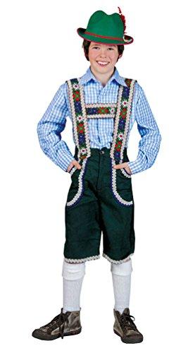 Karneval-Klamotten Kostüm Trachten-Hemd blau Weiss kariert Kinder Oktoberfest-Hemd -
