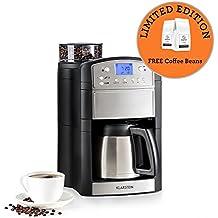 Klarstein Aromatica • Kaffeemaschine • Filtermaschine • integrierter Aktivkohlefilter • inklusive Thermoskanne • 24 Stunden Timer • bis zu 10 Tassen • Permanent-Goldfilter • silber • Limitierte Edition