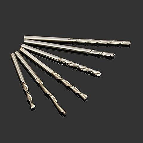 mark8shop 6pcs 3.175mm Schaftfräser Schere links Hand Single/Zwei Spiral Flute Schere Hartmetall Holz Fräser
