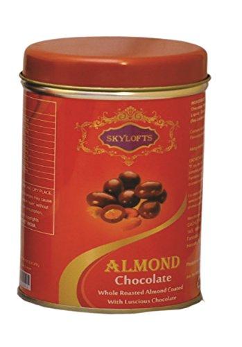 Skylofts 100gms Chocolate Covered Almonds Tin Box