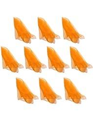 Hoerev ,Orange,10 pièces de couleur unique, de la danse et des foulards de jonglerie.60cmx60cm