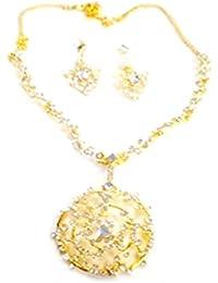 Kpax Fashions Golden Color Alloy Necklace Set For Women,KPX03