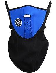 BlueBeach® Bleu cou plus chaudes visage masque cyclisme moto vélo Ski casque vent voile Snowboard unisexe épreuve de la poussière & demi masque l'épreuve du vent