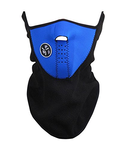 BlueBeach® Blue Neck Warmer Face Mask Cycling Motorcycle Bike Ski Helmet Wind Veil Snowboard Unisex Dust proof & Wind proof Half Face Mask