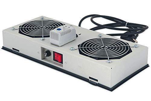 DIGITUS Dachlüftereinheit für Outdoor Wandgehäuse, IP54 geschützt,  1x Lüfter, Thermostat, Grau (RAL 7035)