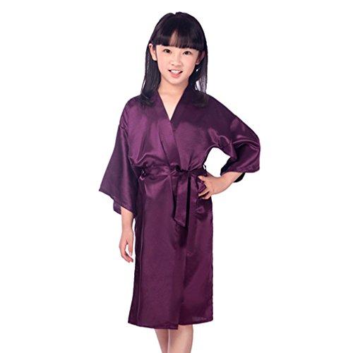 Juleya Kids Robe Satin Niños Kimono Túnicas Vestido