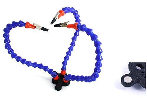 Preisvergleich Produktbild Helfende dritte Hand Fixierhilfe Löthilfe Platinenhalter Löten Halter flexibel - Pana Pro (Schwarz - Magnete)