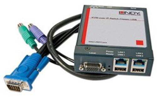 Lindy KVM over IP Switch Classic USB-Eingabegerät (USB, PS/2, USB, PS/2, VGA, verkabelt, EXT, 90x 120x 30mm)