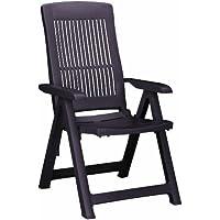BONUS ET SALVUS TIBI (BEST) Best 18200310 silla de jardín - sillas de jardín (Dining, Grid, Asiento duro) Marrón