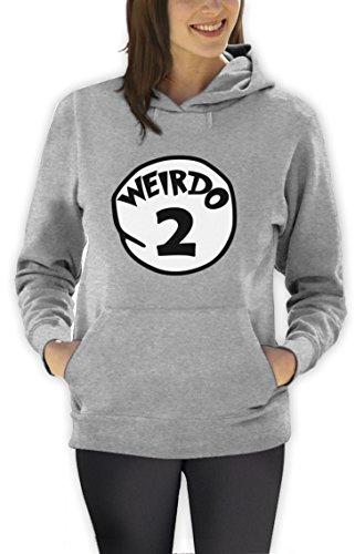 Weirdo 2 Kostüm Frauen Kapuzenpullover Hoodie Grau