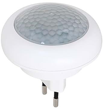 led nachtlicht mit bewegungsmelder f r steckdose lampe notlicht 8 led s nur 0 6w. Black Bedroom Furniture Sets. Home Design Ideas