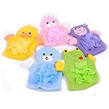 gant d'éponge à doucher animal de marionnettes mignon pour les bébé de plusieurs couleurs et formes - livraison aléatoire