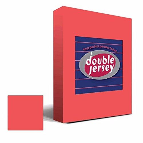 Double Jersey - Spannbettlaken 100% Baumwolle Jersey-Stretch bettlaken, Ultra Weich und Bügelfrei mit bis zu 30cm Stehghöhe, 160x200x30 Fuchsia